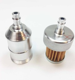 silver anodized fuel filter 1 4 flange  [ 1600 x 1600 Pixel ]