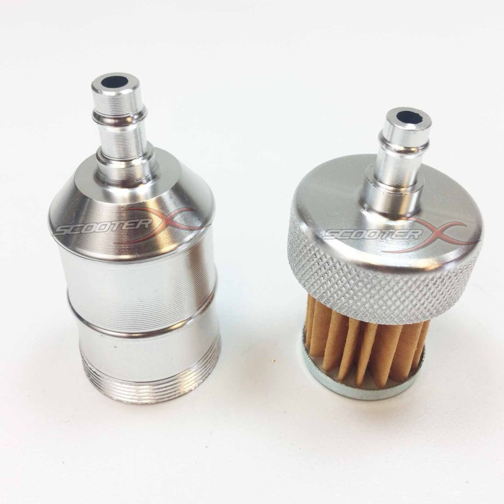 medium resolution of  silver anodized fuel filter 1 4 flange