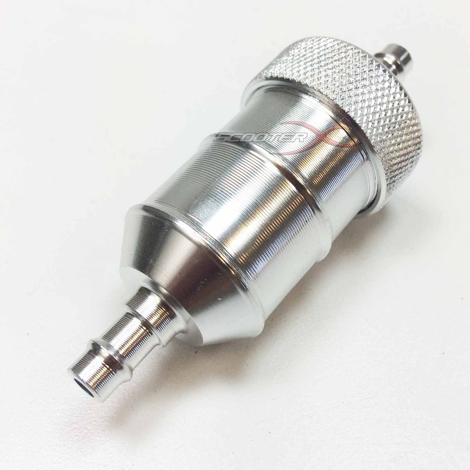 hight resolution of  silver anodized fuel filter 1 4 flange