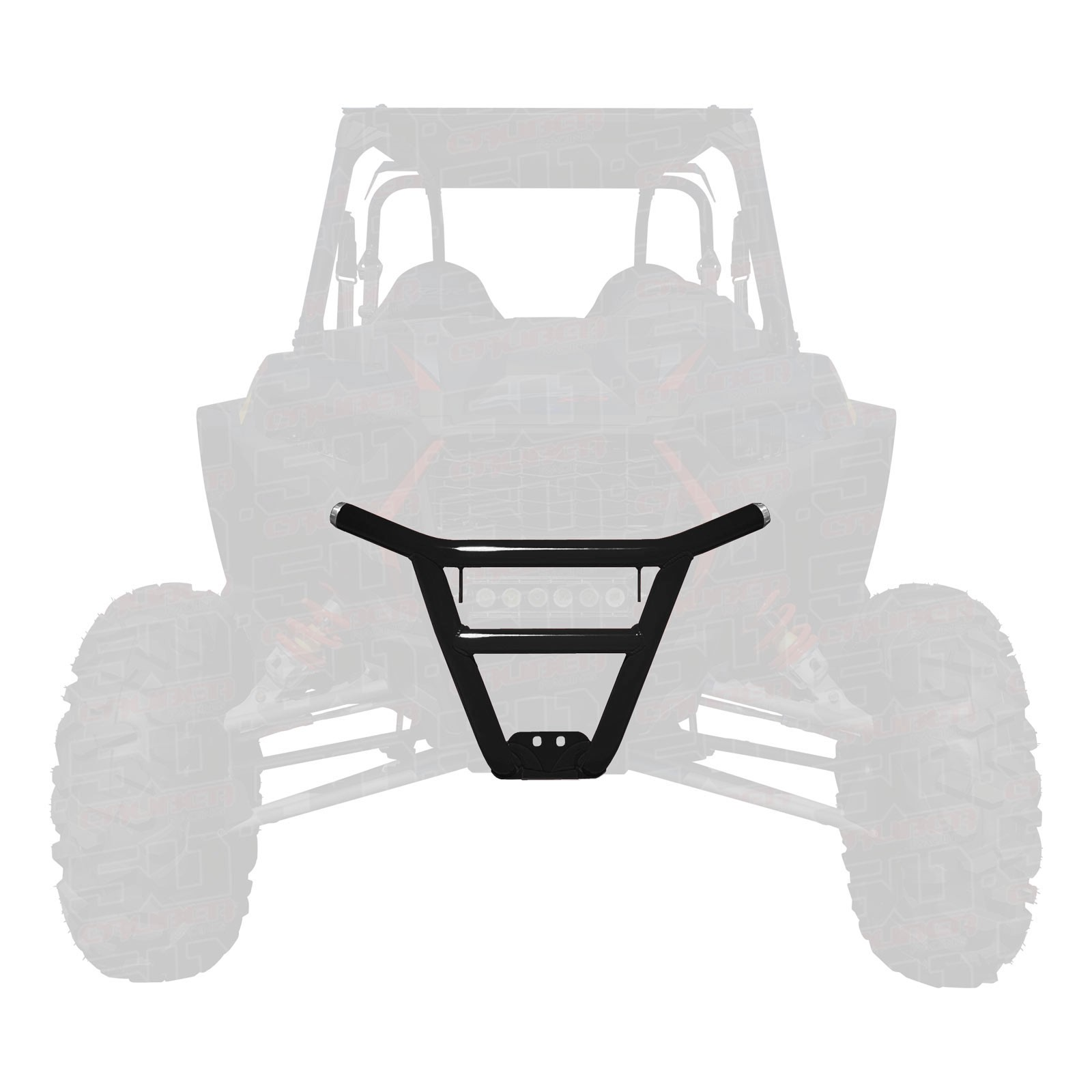 hight resolution of details about 50 caliber racing 2019 rzr xp1000 tubular front bumper black