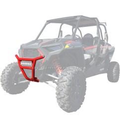 details about 50 caliber racing 2019 rzr xp1000 tubular front bumper red [ 1600 x 1600 Pixel ]