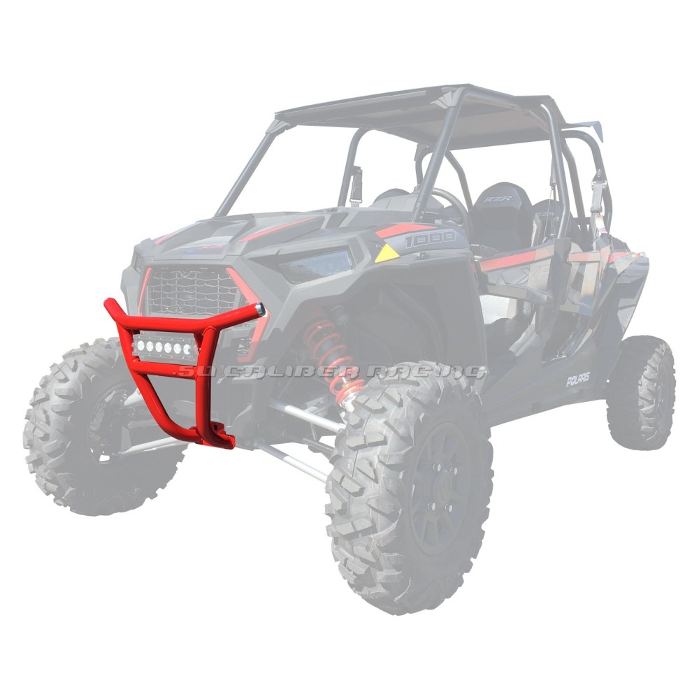 medium resolution of details about 50 caliber racing 2019 rzr xp1000 tubular front bumper red