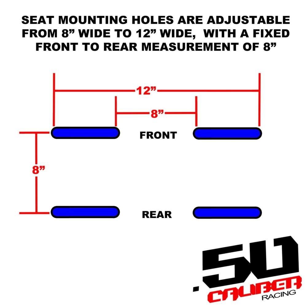 medium resolution of  xp1000 bucket seat with carbon fiber look adjustable base dimensions