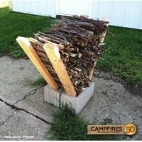 DIY Firewood Rack - 50 Campfires