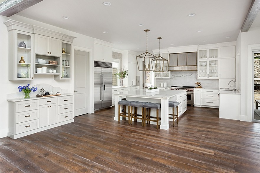 Cherry wood surface photo by: Best Flooring for the Farmhouse-Style Home | 50 Floor