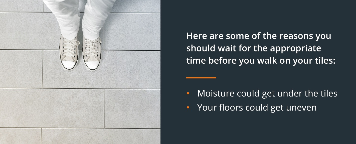 you walk on newly installed floors