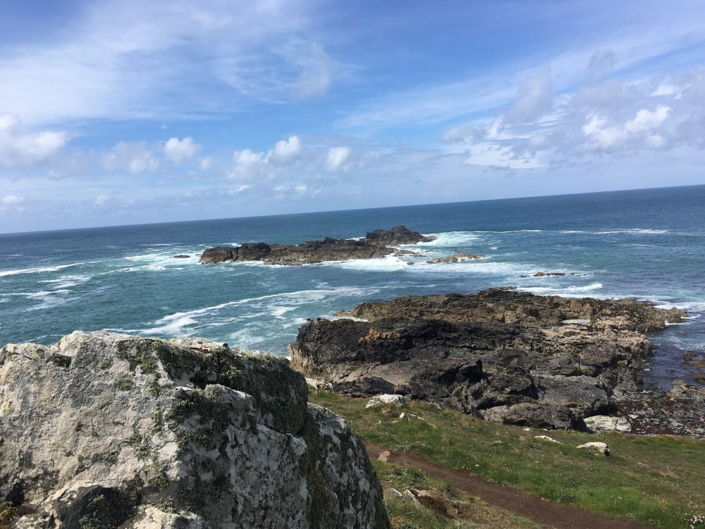 The Carracks: offshore rocks midway between Zennor and St. Ives (LEJoG Day 2)