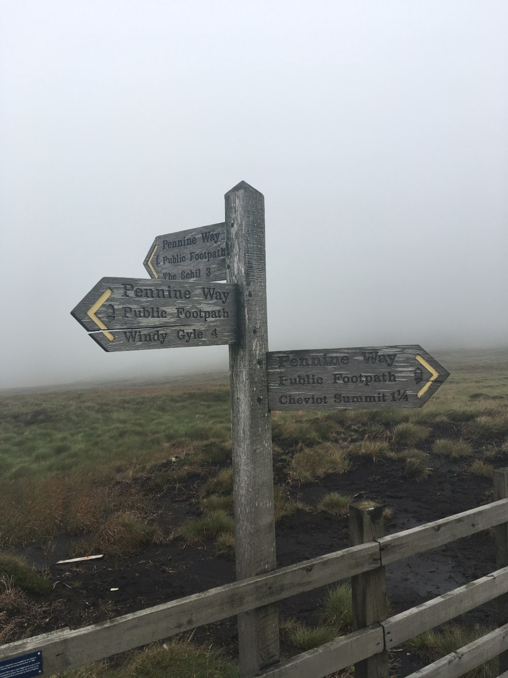 Cheviot summit sign, LEJoG Day 57
