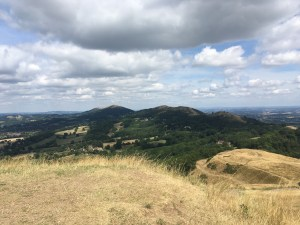 The Malvern Hills, seen from Herefordshire Beacon (Day 28)