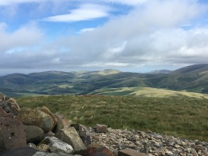 Cheviot Hills from Russell's Cairn, Northumberland, on the Pennine Way (Day 56)