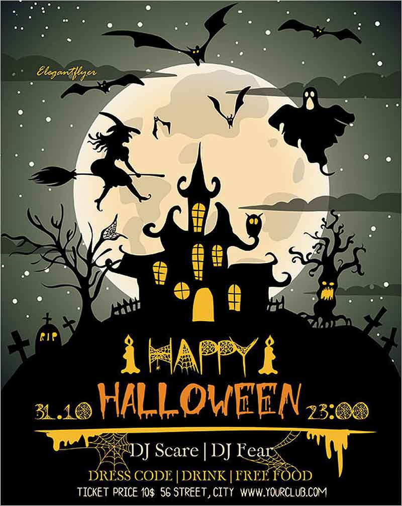 Happy-Halloween-Party-Flyer-Template-Psd