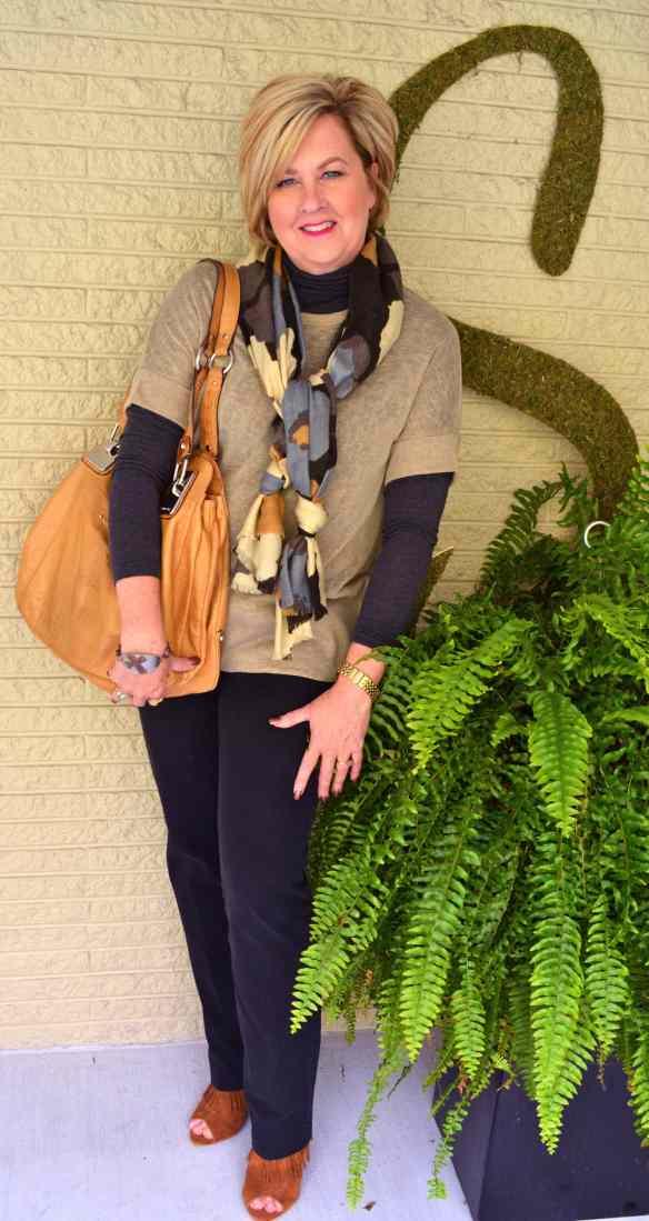 50 Is Not Old | Black & Brown Pt. 2 scarf
