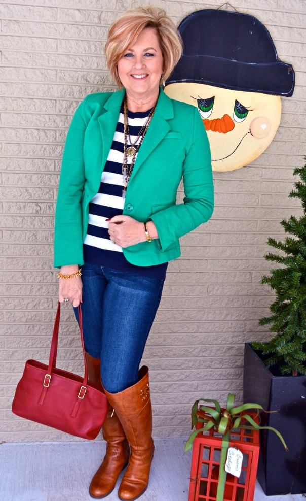 50 Is Not Old | How To Wear Stripes