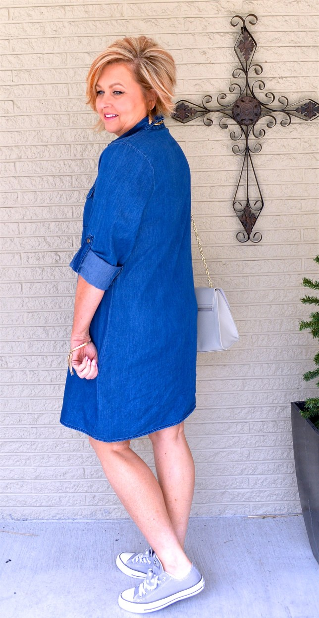 50 Is Not Old | How To Style A Denim Dress