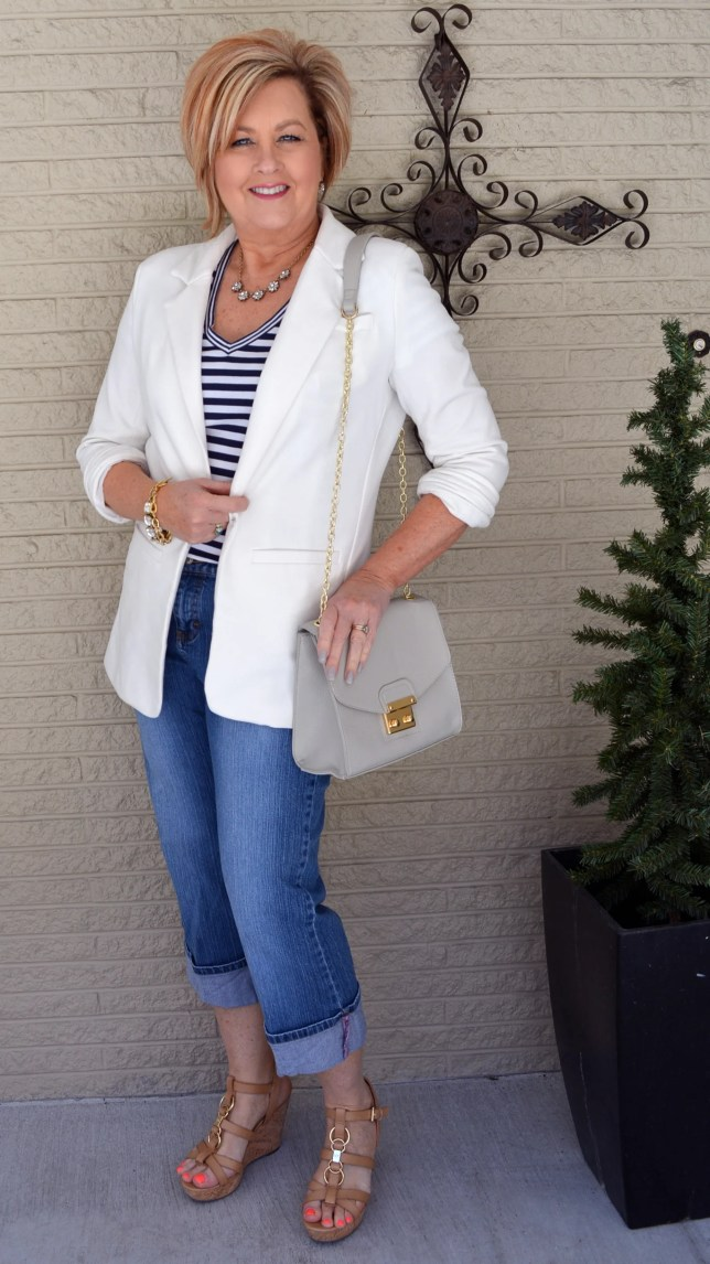 50 Is Not Old | White Boyfriend Blazer