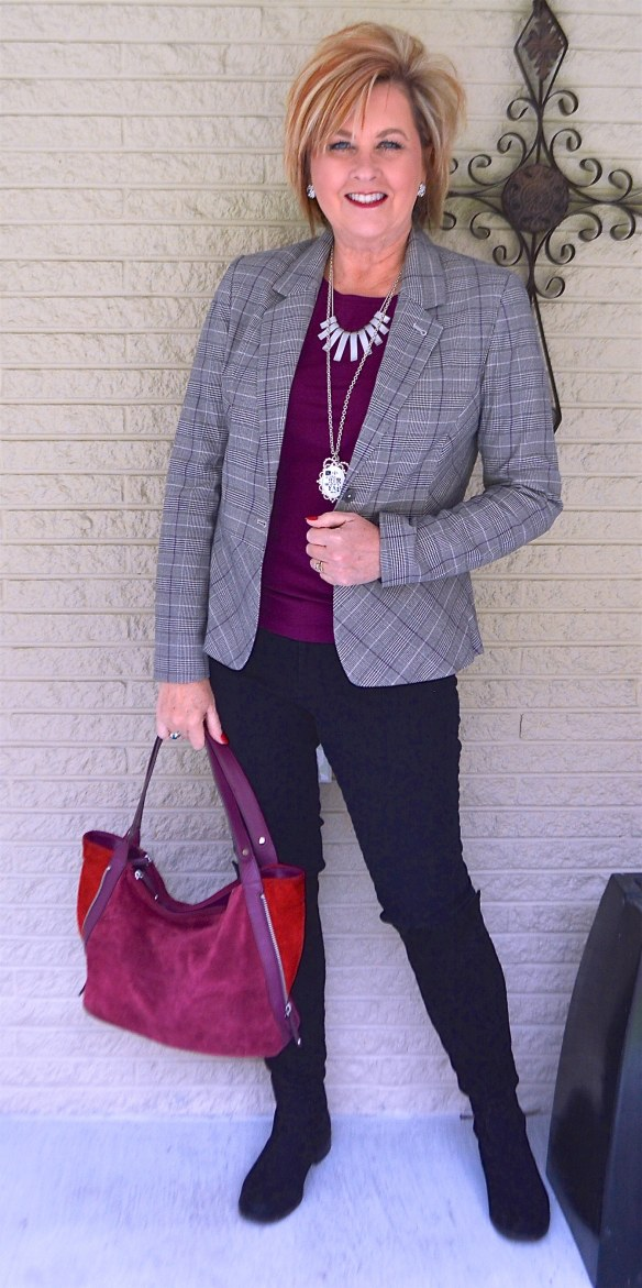 50 IS NOT OLD | PLAID BLAZER FOR OFFICE APPAREL