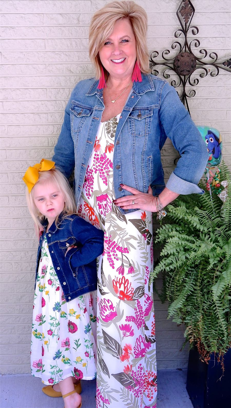 50 IS NOT OLD | DENIM JACKET AND A MAXI DRESS