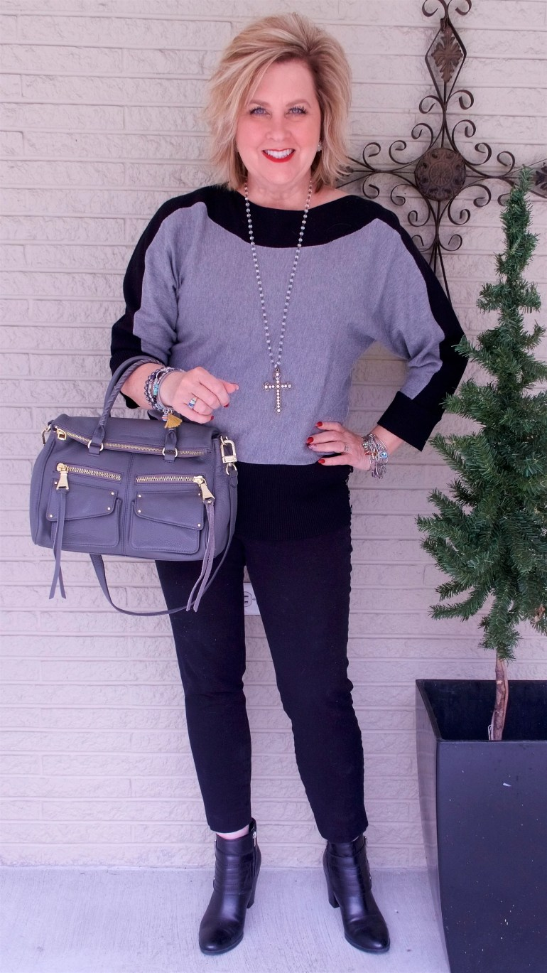 50 IS NOT OLD | HOW TO WEAR BLACK AND GRAY AND NOT LOOK DRAB