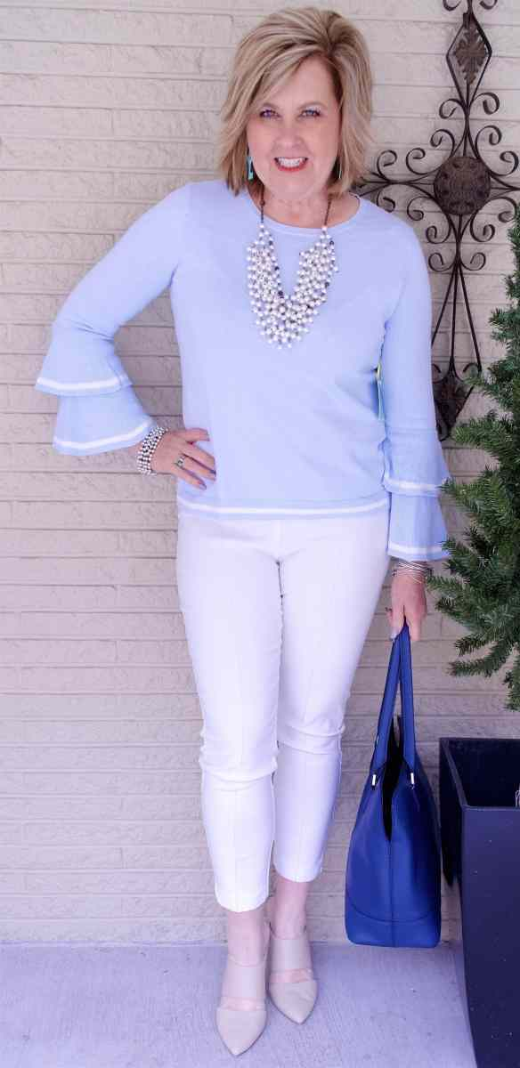 50 IS NOT OLD | TIERED BELL SLEEVES | FASHION OVER 40