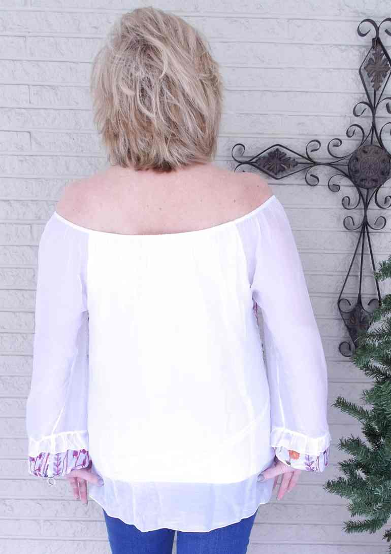 50 IS NOT OLD | TEMPO PARIS EMBROIDERED TOP | FASHION OVER 40