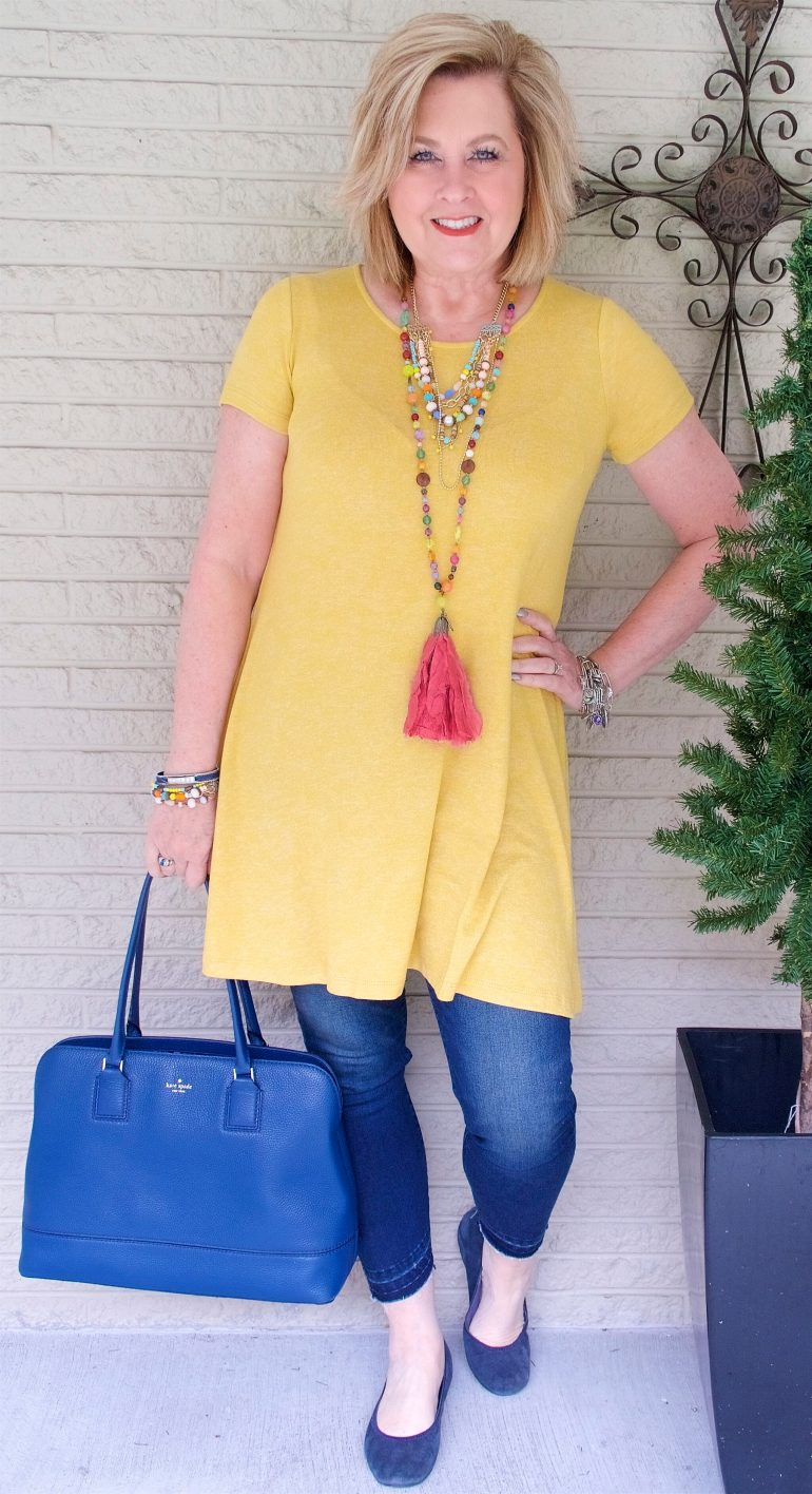 50 IS NOT OLD | WEARING JEANS WITH A DRESS | FASHION OVER 40