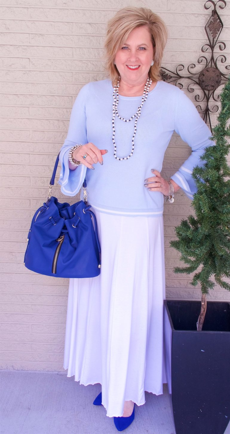 50 IS NOT OLD | A LONGER SKIRT FOR SPRING | FASHION OVER 40