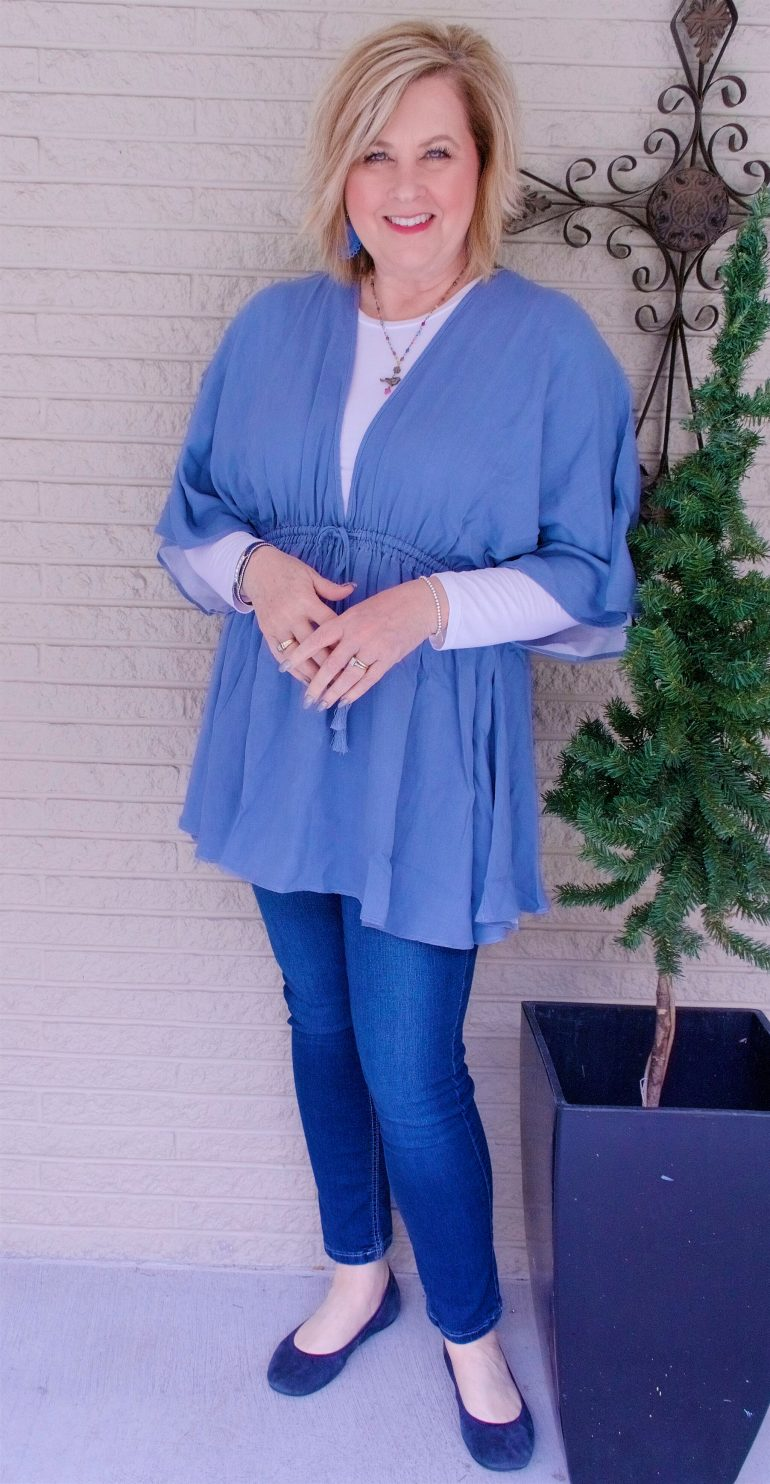50 IS NOT OLD | USING A PONCHO AS A COVERUP | FASHION OVER 40