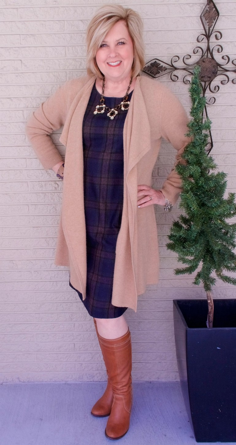 50 IS NOT OLD | HOW TO WEAR BOOTS WITH A DRESS | FASHION OVER 40