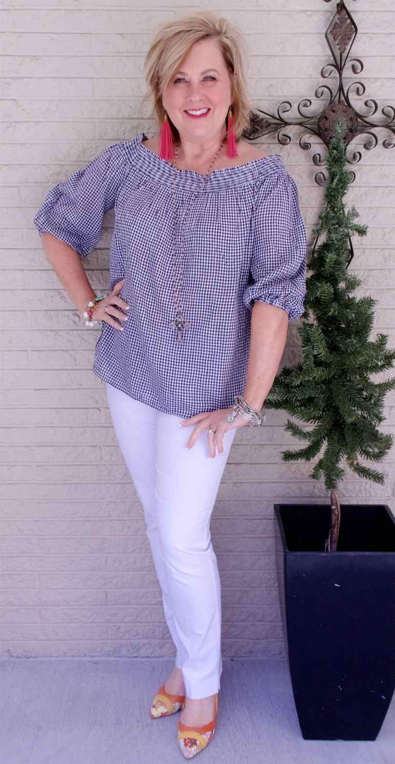 50 IS NOT OLD | I AM CRAZY ABOUT GINGHAM | FASHION OVER 40