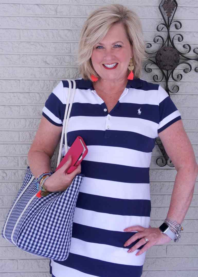 4ed003e8131 A STRIPED T-SHIRT DRESS IS CLASSIC AND COMFORTABLE – 50 IS NOT OLD