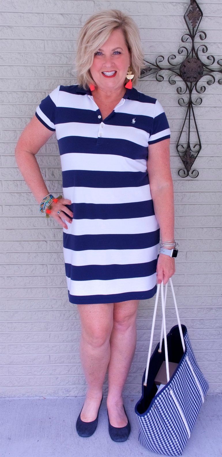 50 IS NOT OLD   A STRIPED T-SHIRT DRESS IS CLASSIC AND COMFORTABLE   FASHION OVER 40