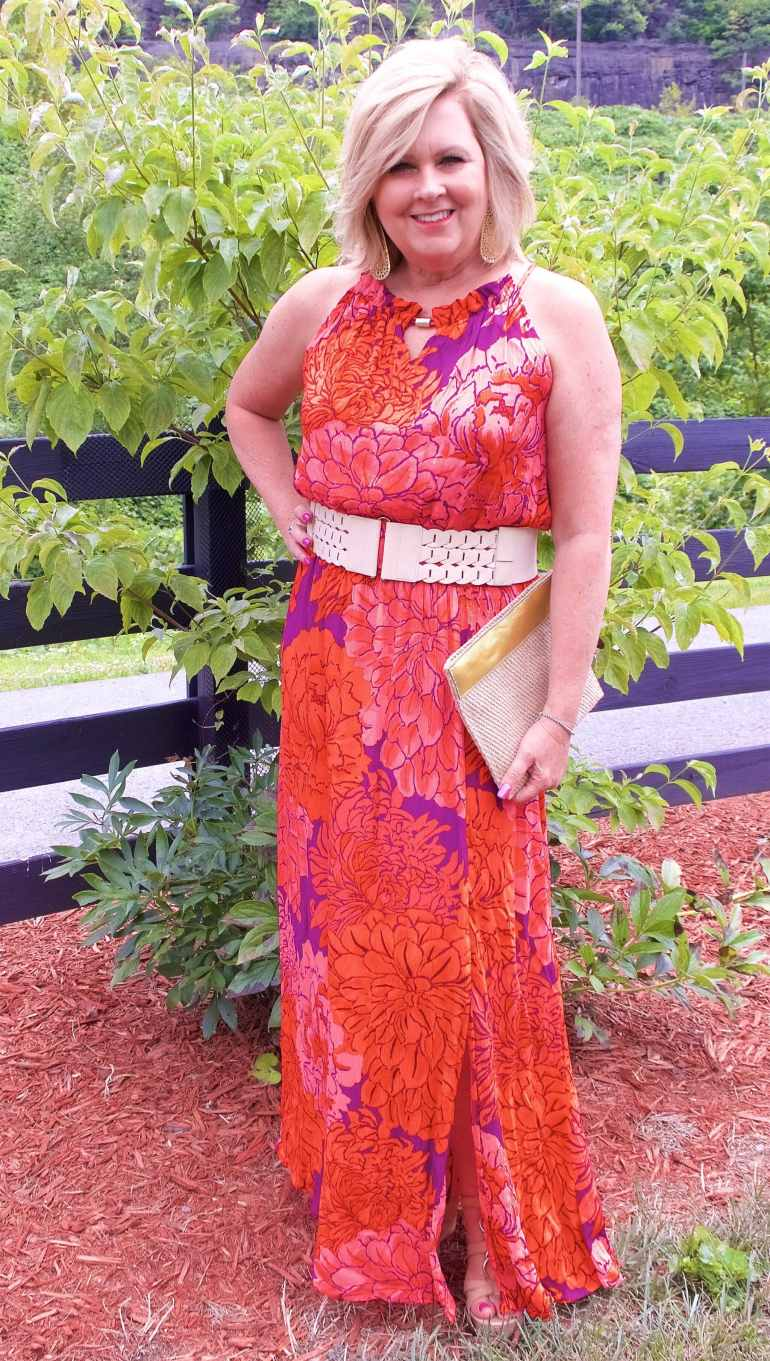 50 IS NOT OLD | A COLORFUL FLORAL MAXI DRESS | FASHION OVER 40