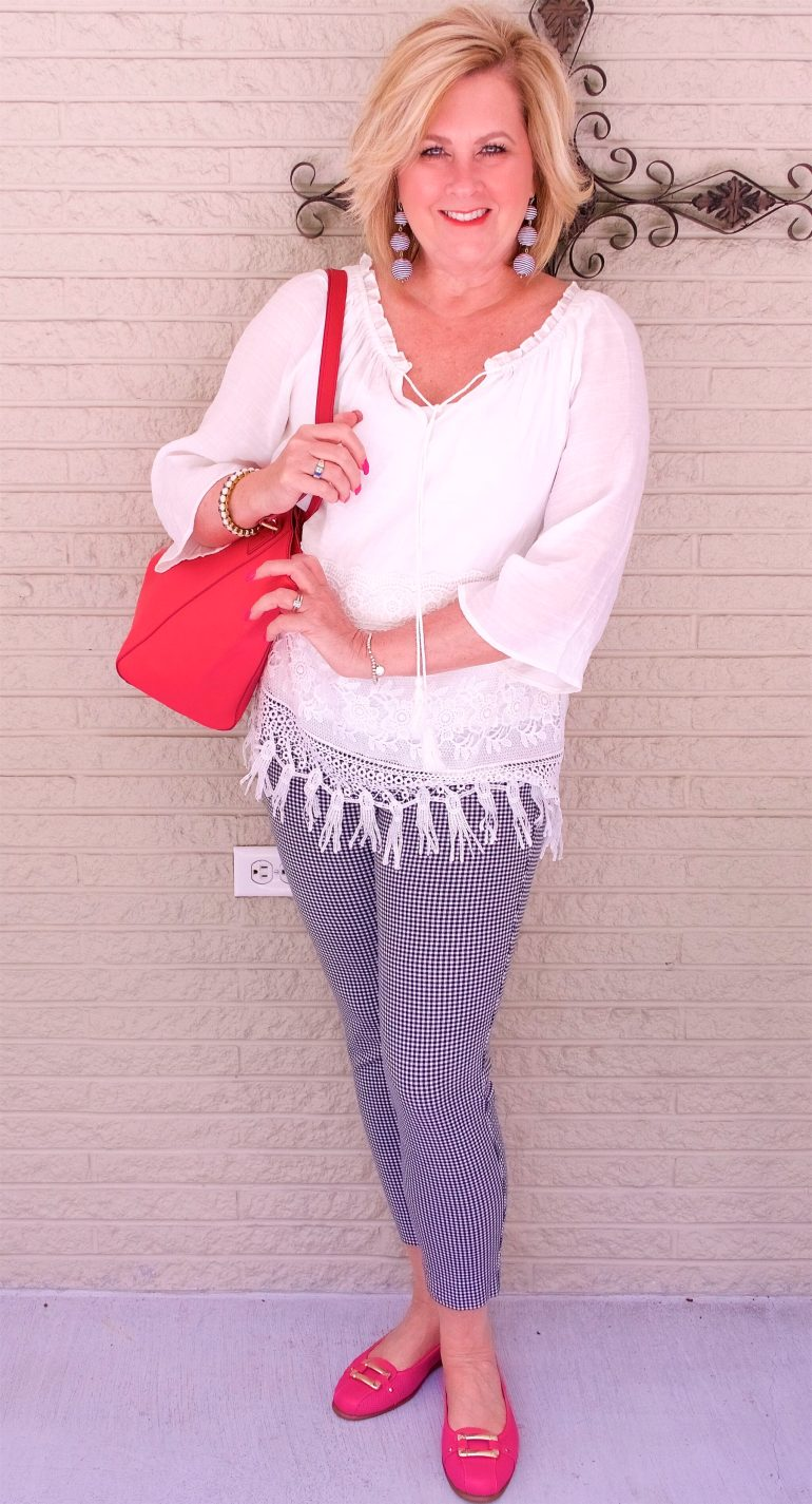 50 IS NOT OLD | I AM CRUSHING ON GINGHAM | FASHION OVER 40