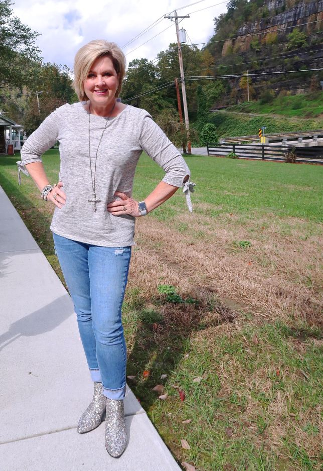 50 IS NOT OLD |CAN YOU WEAR GLITTER BOOTS OVER 40 | FASHION OVER 40