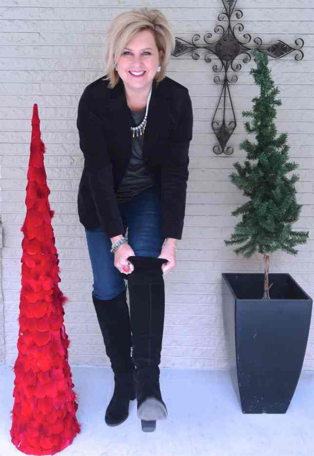 50 IS NOT OLD | HOW TO DRESS FOR A CASUAL HOLIDAY PARTY | FASHION OVER 40