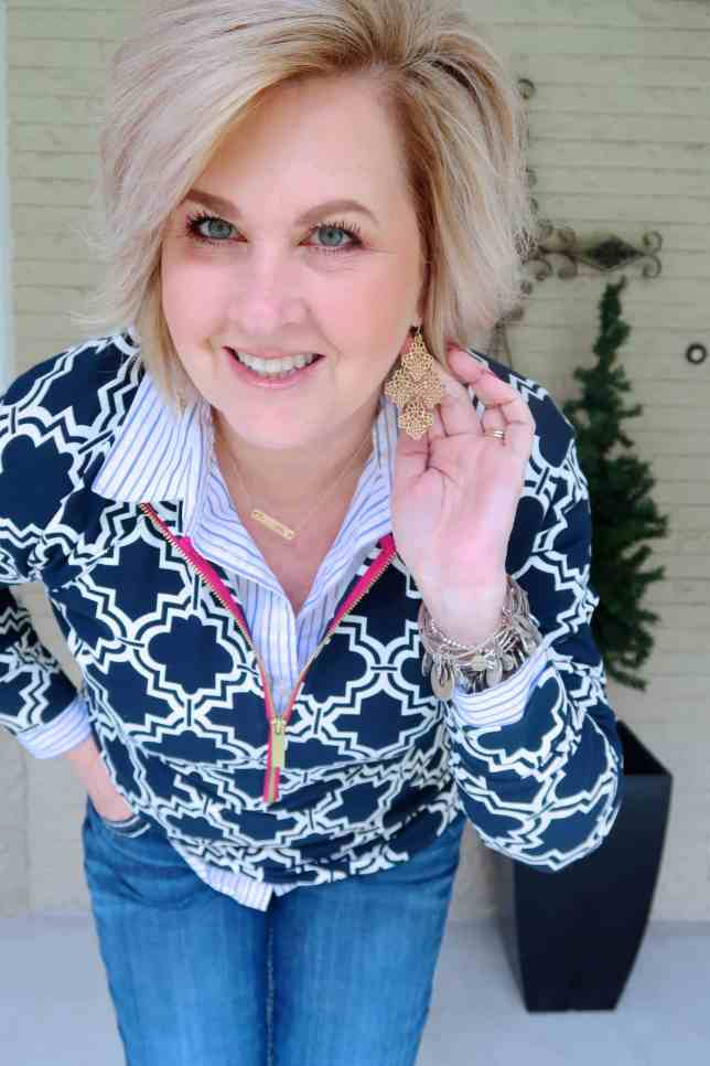 50 IS NOT OLD | STYLING A HALF-ZIP JACKET | FASHION OVER 40