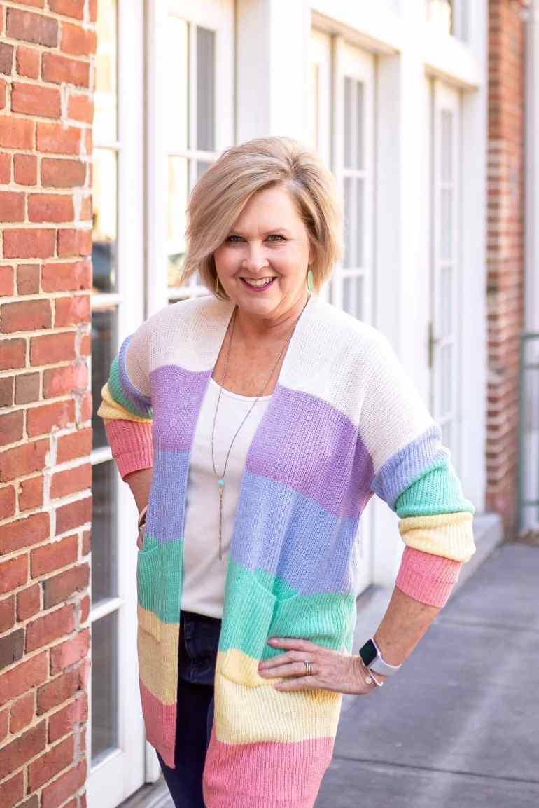 50 IS NOT OLD | EASTER COLORS FOR SPRING | FASHION OVER 40
