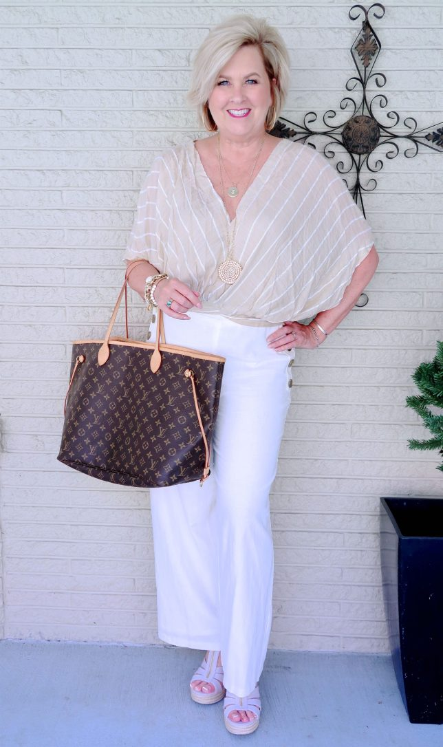 50 IS NOT OLD | A VACATION LOOK IN NEUTRALS | FASHION OVER 40