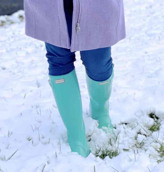 tiffany blue hunter boots for snow