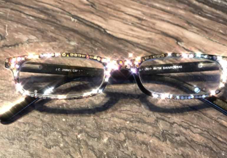 sparkly glasses