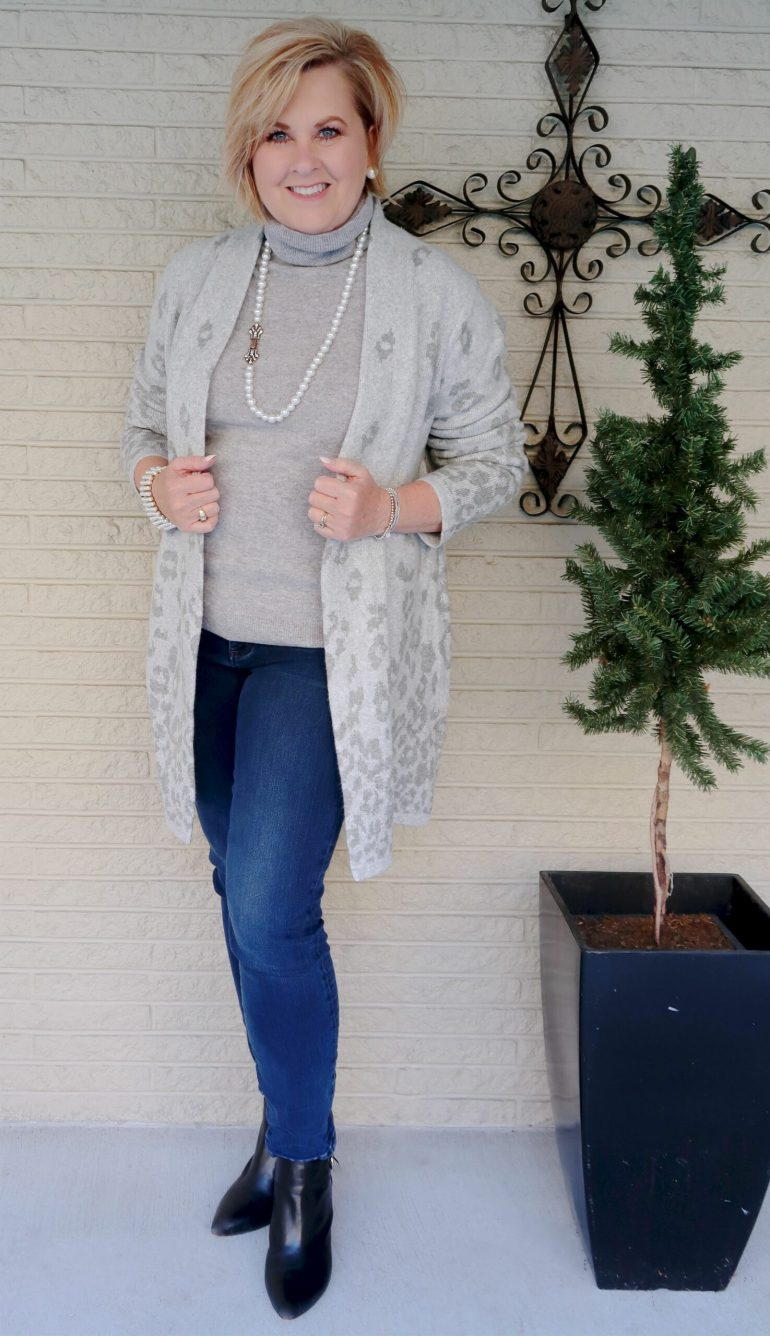 Cashmere Turtleneck and Long Cardigan