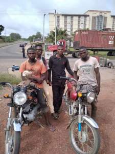 Four arrested by Nigeria Security and Civil Defense Civil Defense Arrest Four In Abeokuta For Riding Bike From Minna - FB IMG 1589912926654 225x300 - Civil Defense Arrest Four In Abeokuta For Riding Bike From Minna