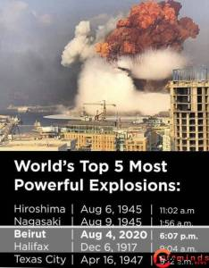 The World's Most Powerful Explosion; See Beirut Explosion Ranking the world's most powerful explosion - IMG 20200808 162342 234x300 - The World's Most Powerful Explosion; See Beirut Explosion Ranking