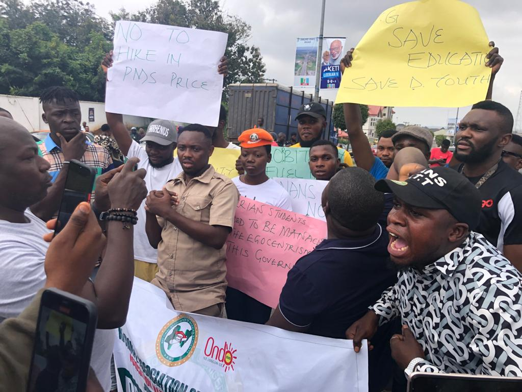 Photos: Nigerian Students Embark on Nationwide Protest Over Increase in Fuel Price - IMG 20200908 145758 - Photos: Nigerian Students Embark on Nationwide Protest Over Increase in Fuel Price