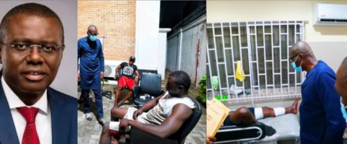 Governor Sanwo-Olu visits Lekki Toll gate shooting victims, says the state would take care of their medical bills governor sanwo-olu visits lekki toll gate shooting victims, says the state would take care of their medical bills - 20201021 093759 1603269631700 - Governor Sanwo-Olu visits Lekki Toll gate shooting victims, says the state would take care of their medical bills