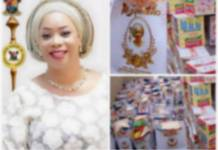 Hon. Mojisola Alli-Macauley Exposed; Used Covid19 palliatives As Birthday Souvenirs