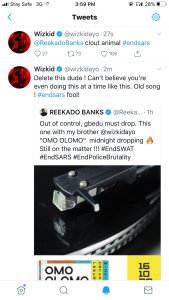 Clout Animal, Fool - Wizkid Said To Reekado Banks wizkid Clout Animal, Fool – Wizkid Said To Reekado Banks IMG 20201015 165651 169x300 wizkid Clout Animal, Fool – Wizkid Said To Reekado Banks IMG 20201015 165651