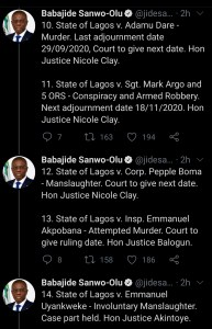 good news for #endsars protesters as sanwo-olu releases identity of police under prosecution - Screenshot 20201023 104223 1 193x300 - Good news for #EndSARS protesters as Sanwo-Olu releases identity of police under prosecution good news for #endsars protesters as sanwo-olu releases identity of police under prosecution - Screenshot 20201023 104223 1 - Good news for #EndSARS protesters as Sanwo-Olu releases identity of police under prosecution