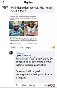 Lydia Forson Reply lydia forson - WhatsApp Image 2020 10 30 at 6 - Lydia Forson Finally Responds To Allegations of Sleeping With Desmond Elliot, See What She Had To Say lydia forson - WhatsApp Image 2020 10 30 at 6 - Lydia Forson Finally Responds To Allegations of Sleeping With Desmond Elliot, See What She Had To Say
