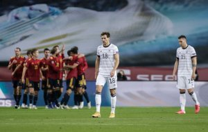 Germany players looking dejected after last night humiliating defeat against Spain football - 20201118 074231 300x190 - Football: Ozil advice Low,Germany on what to do to avoid future humiliating defeats football - 20201118 074231 - Football: Ozil advice Low,Germany on what to do to avoid future humiliating defeats